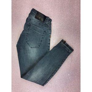 One X One Teaspoon Distressed Jean + Ankle Zipper